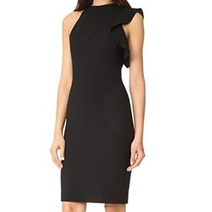 Black Halo Pabla Sleeveless Sheath in Black